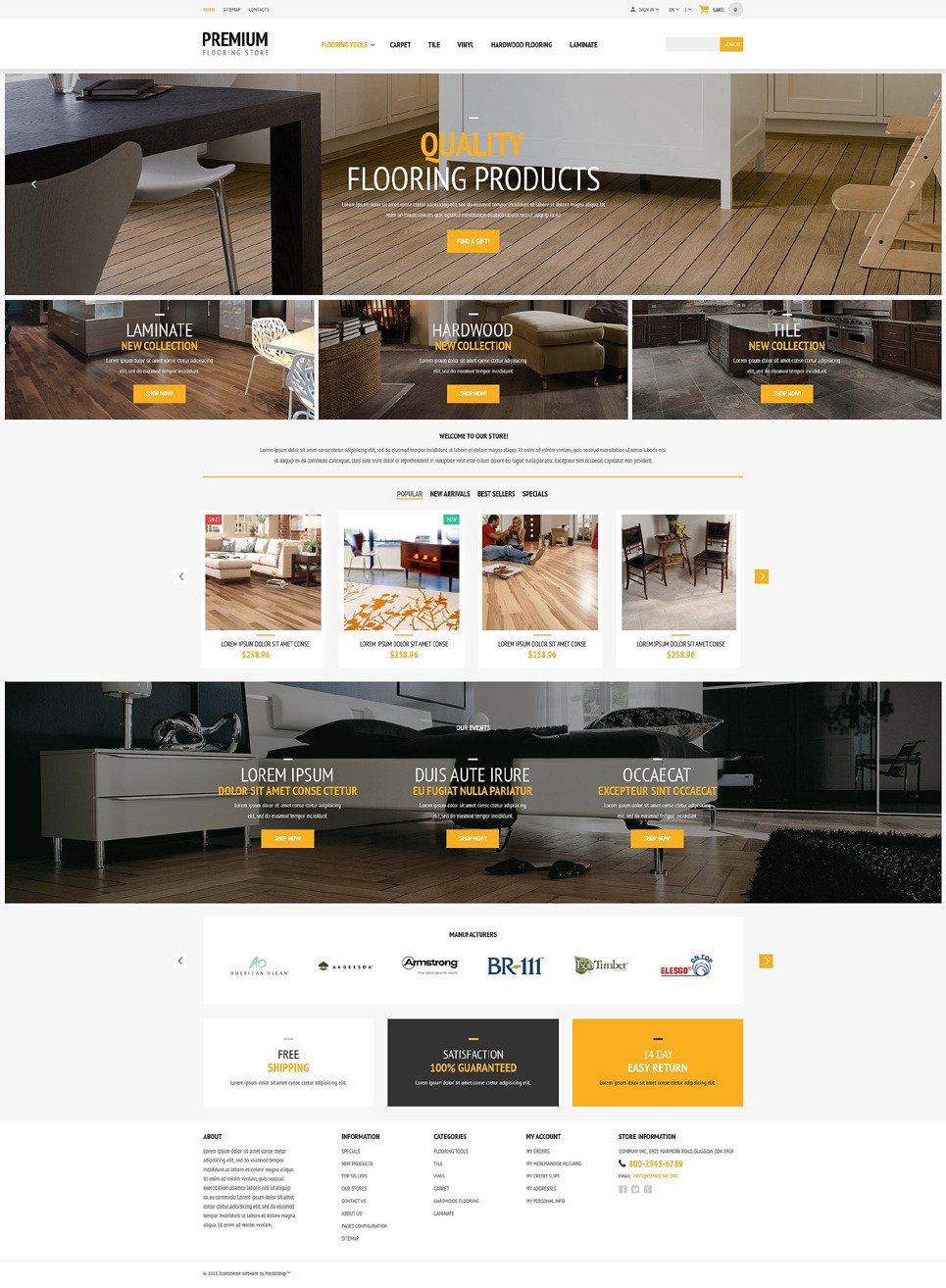 Flooring Store PrestaShop Theme New Screenshots BIG
