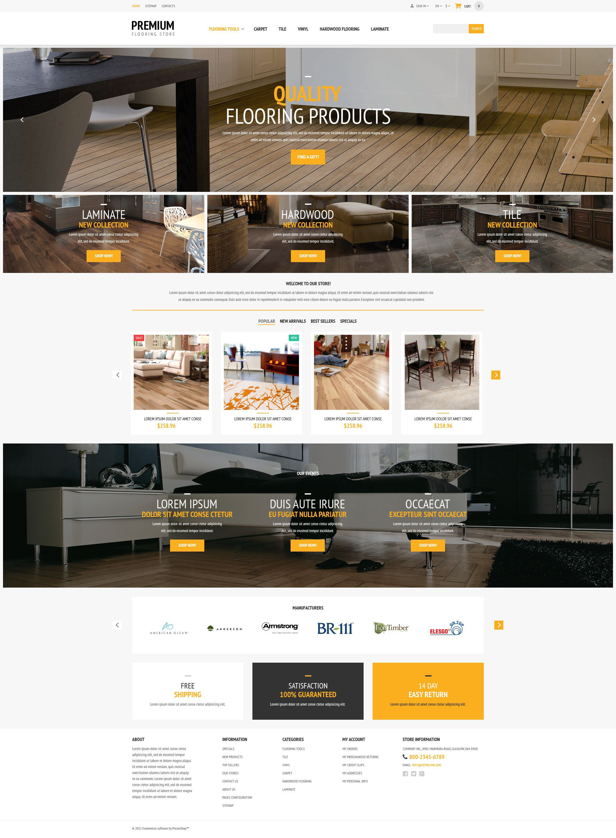 Flooring Store PrestaShop Theme