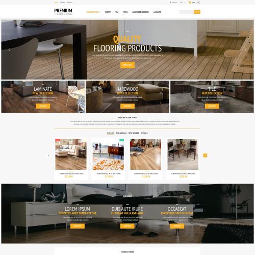 Premium Flooring Store - PrestaShop Template based on Bootstrap