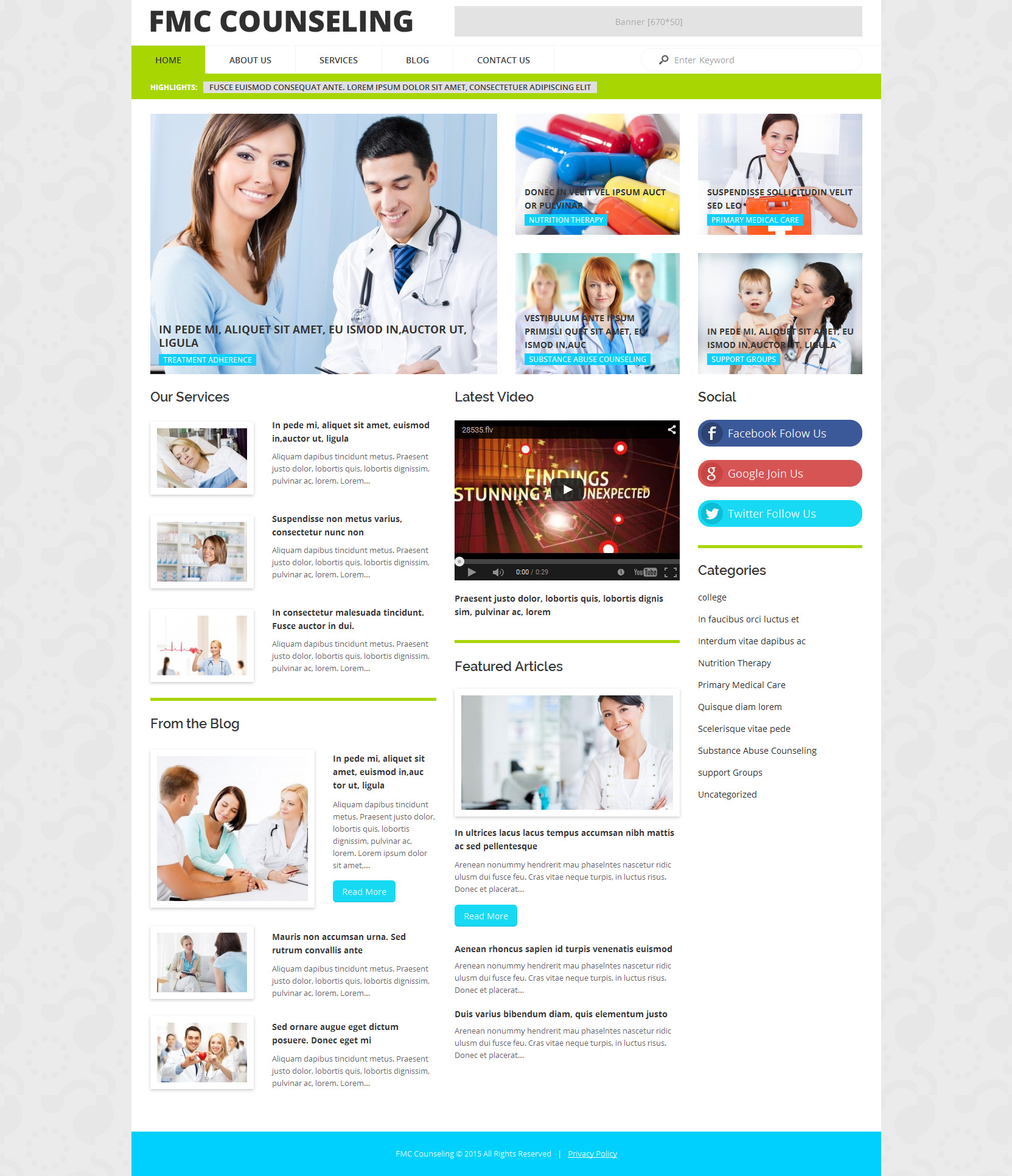 FMC Counseling WordPress Theme