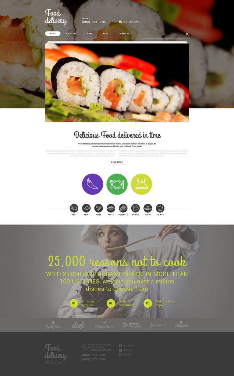 Food Delivery WordPress Theme New Screenshots BIG