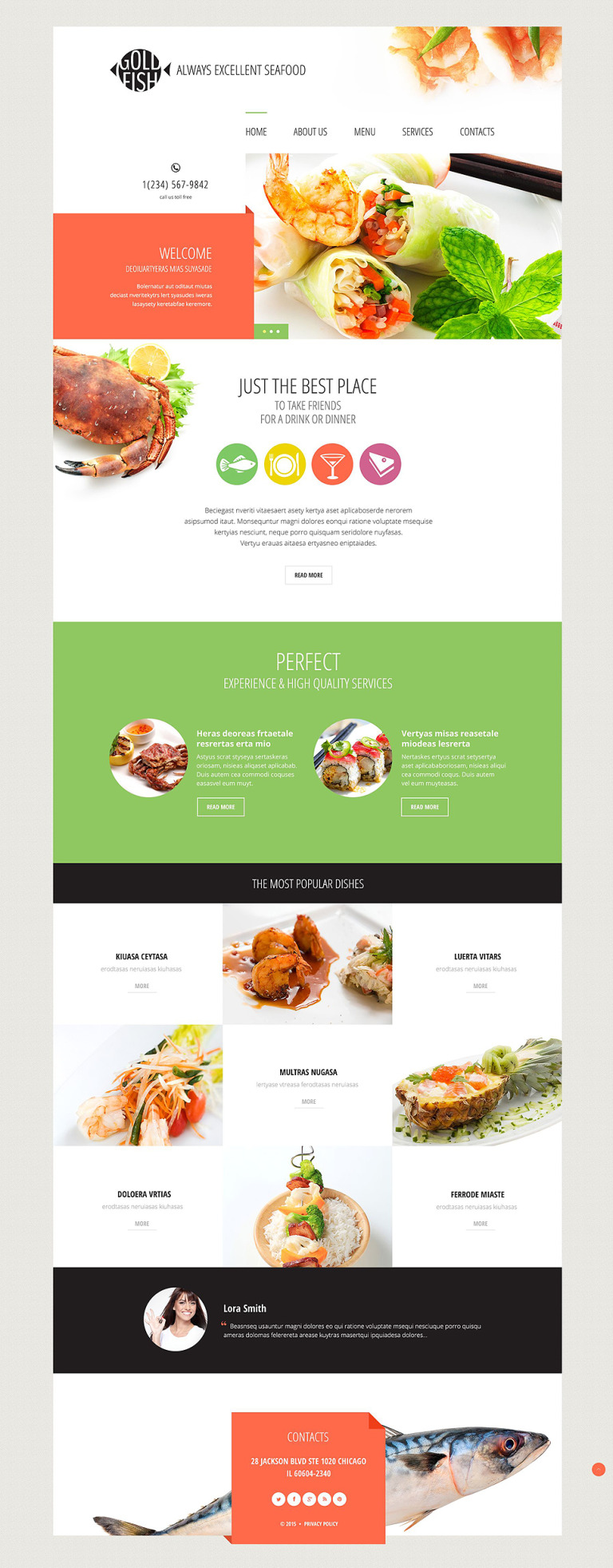 Gold Fish Website Template New Screenshots BIG