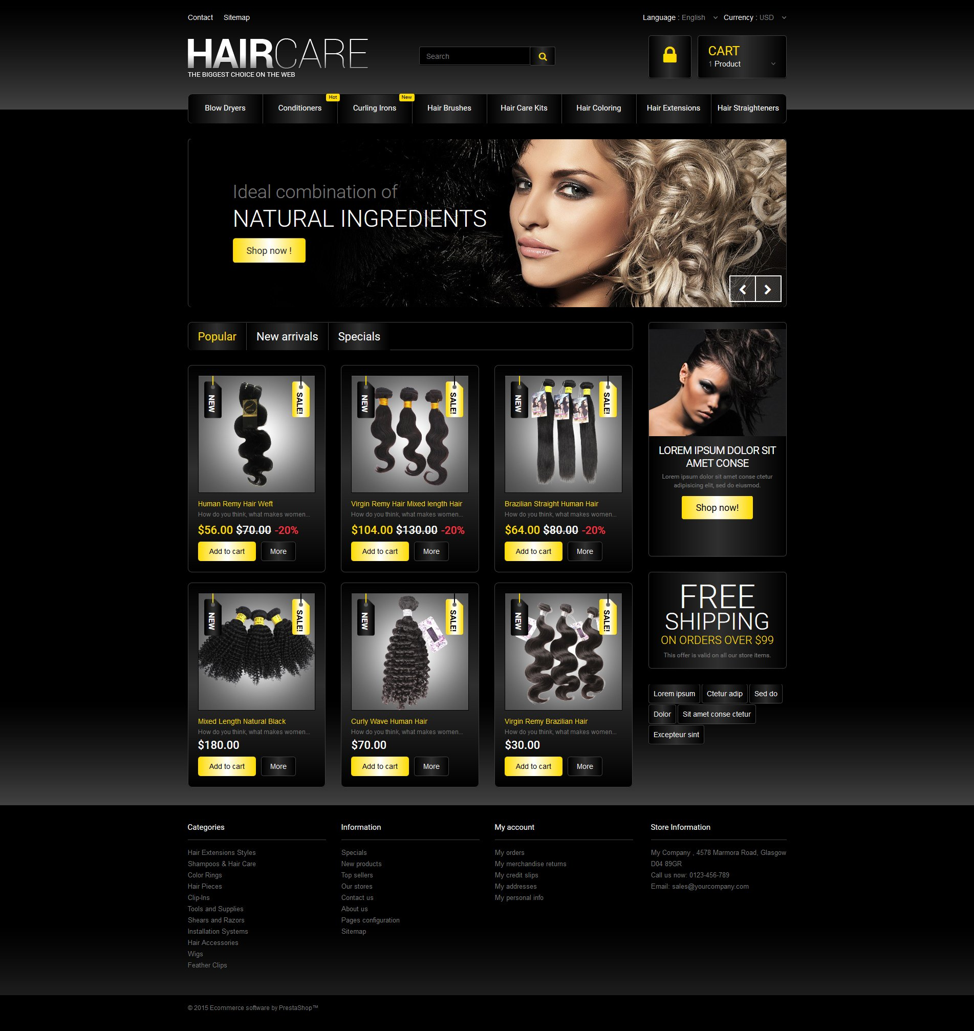 Hair Studio PrestaShop Theme