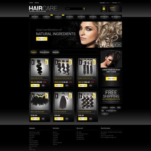 Hair Care - PrestaShop Template based on Bootstrap