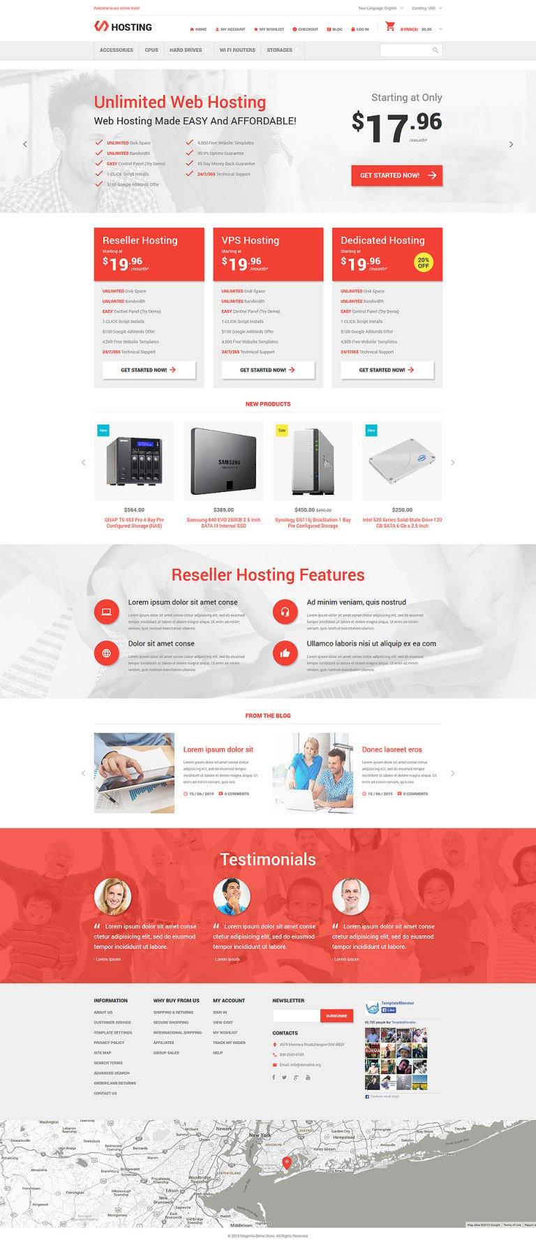 Hosting Online Store Magento Theme New Screenshots BIG
