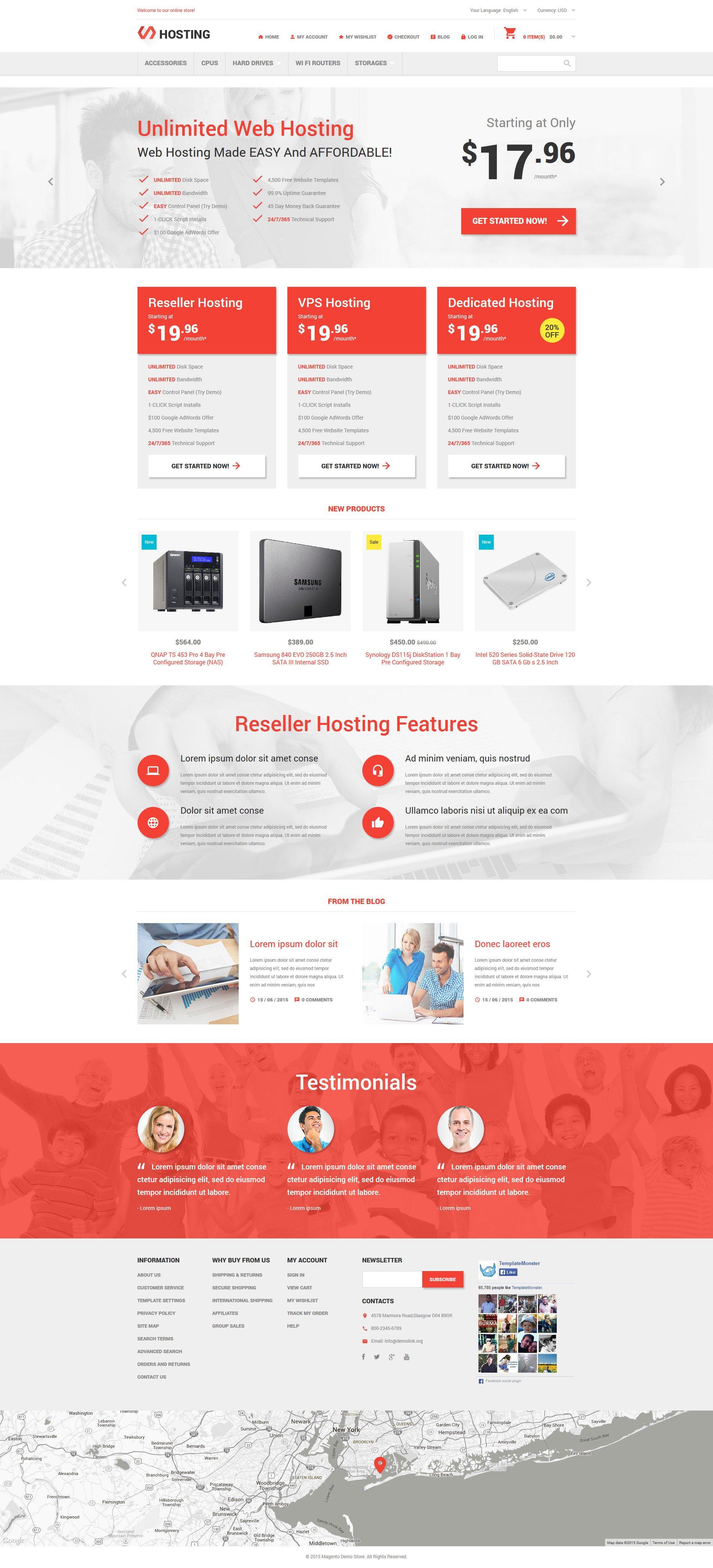 Hosting Online Store Tema Magento №54805