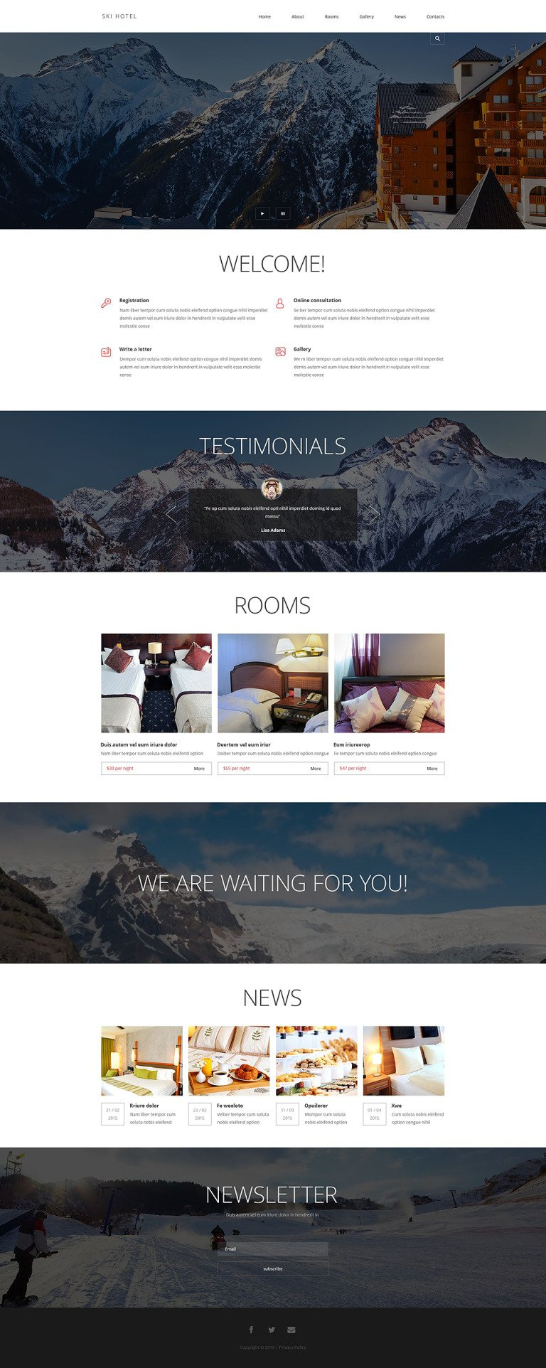 Hotels and Motels Joomla Template New Screenshots BIG