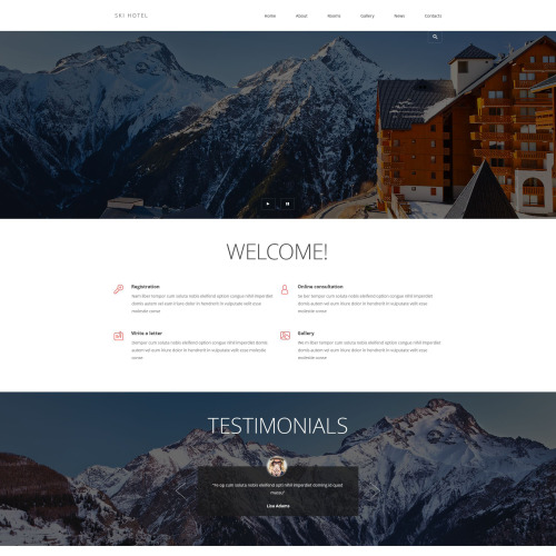 Ski Hotel - Joomla! Template based on Bootstrap