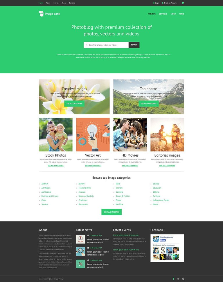 Image Bank Website Template New Screenshots BIG