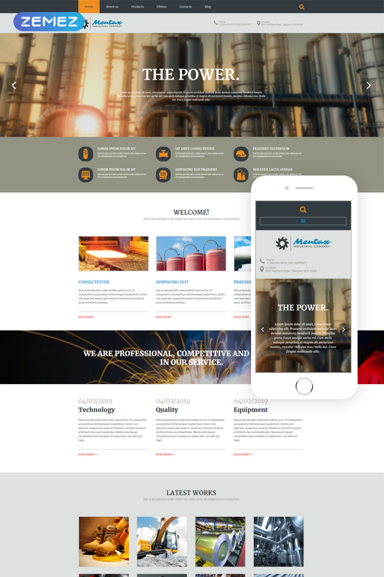 Industrial Company Joomla Template New Screenshots BIG