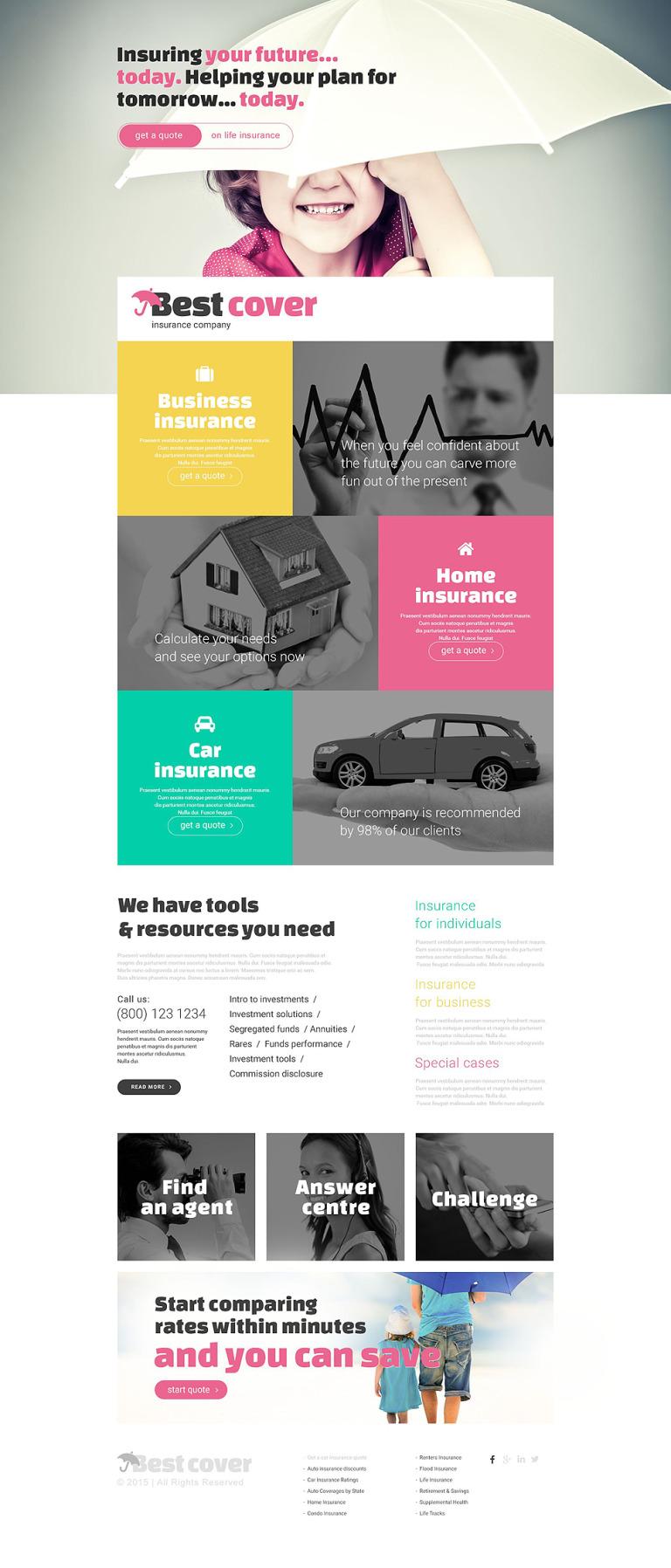 Insurance Responsive Landing Page Template New Screenshots BIG