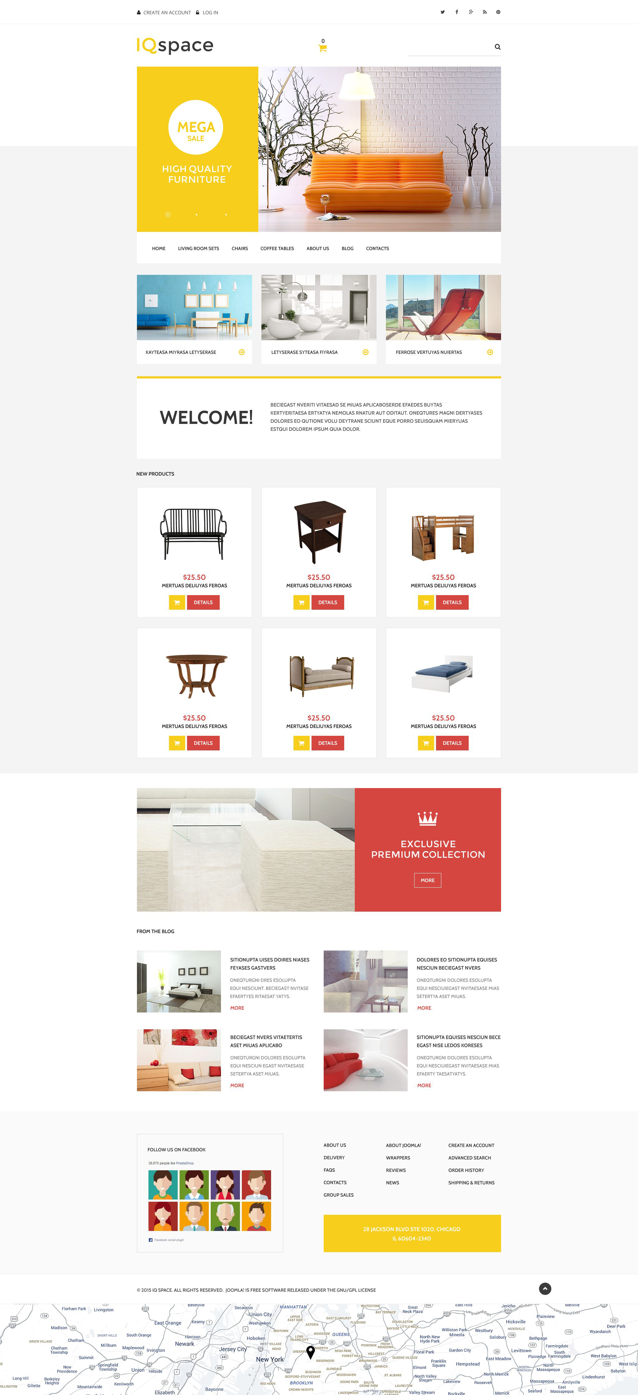 """IQspace"" VirtueMart Template №54882"