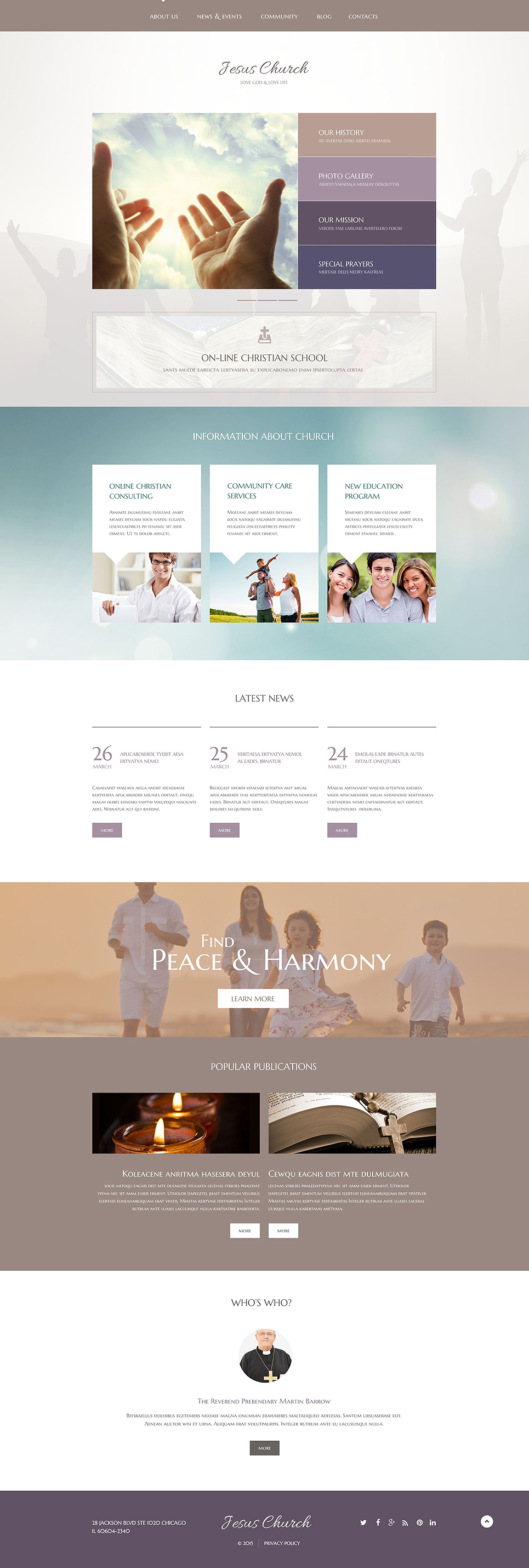 Christian wordpress theme for Convert html template to wordpress theme online