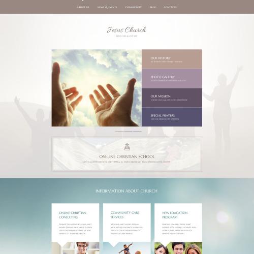 Jesus Church - WordPress Template based on Bootstrap