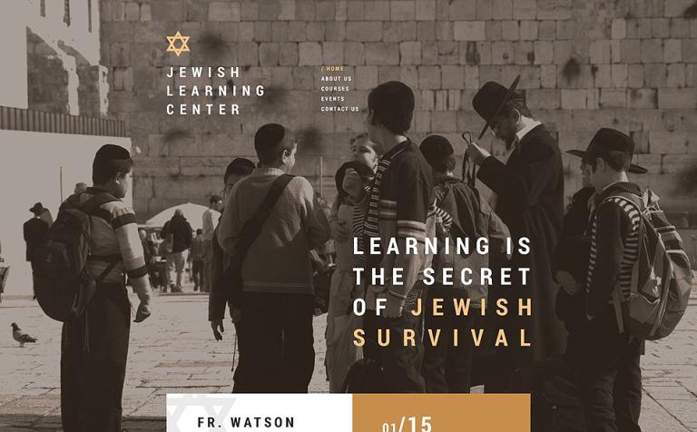 Jewish School Website Template