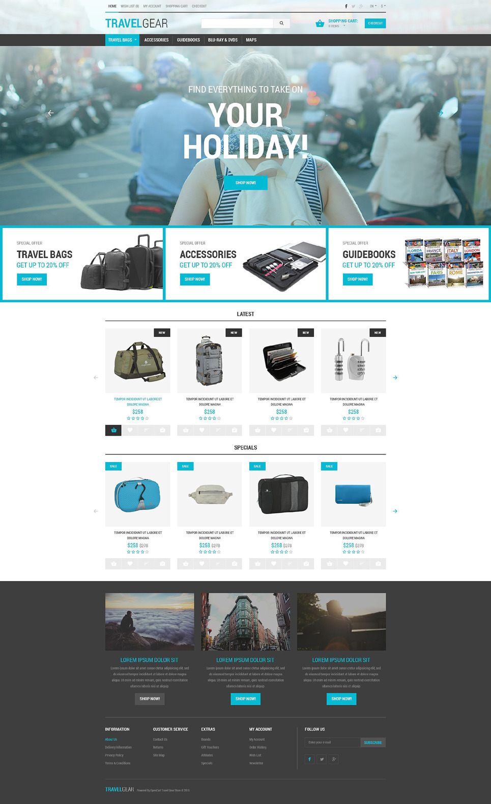 Journey Essentials Store OpenCart Template New Screenshots BIG
