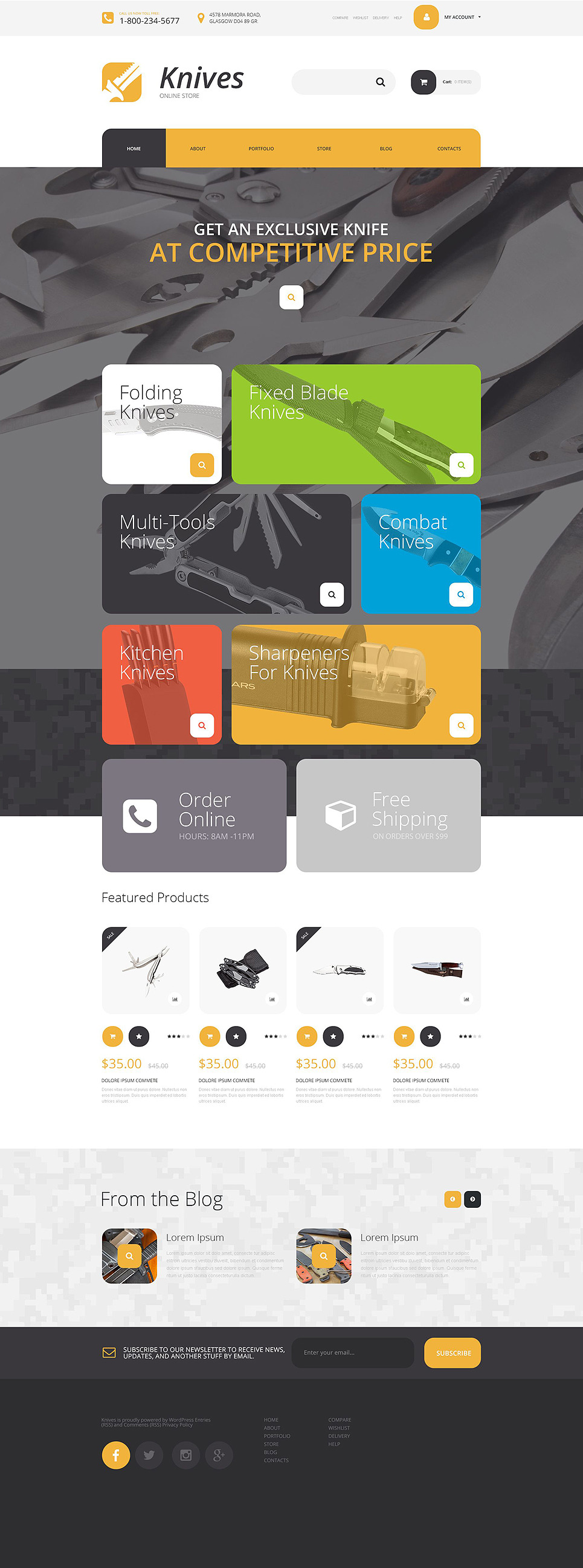Knives Store WooCommerce Theme New Screenshots BIG