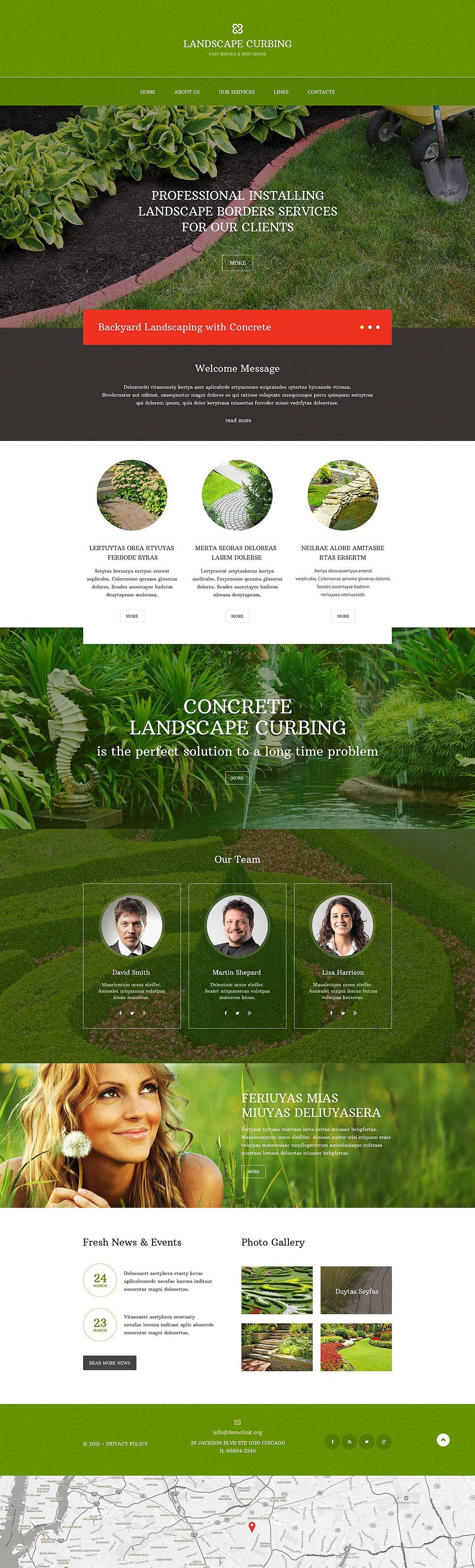 Landscape Design Responsive Website Template New Screenshots BIG