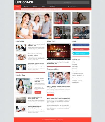 Thème WordPress adaptatif  pour site de conseillère de vie