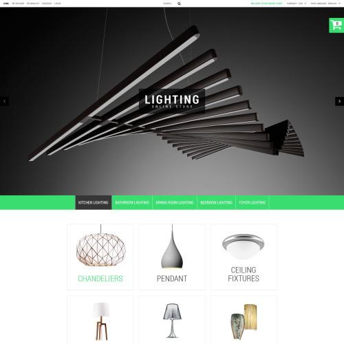 Lighting Online Store - PrestaShop Template based on Bootstrap