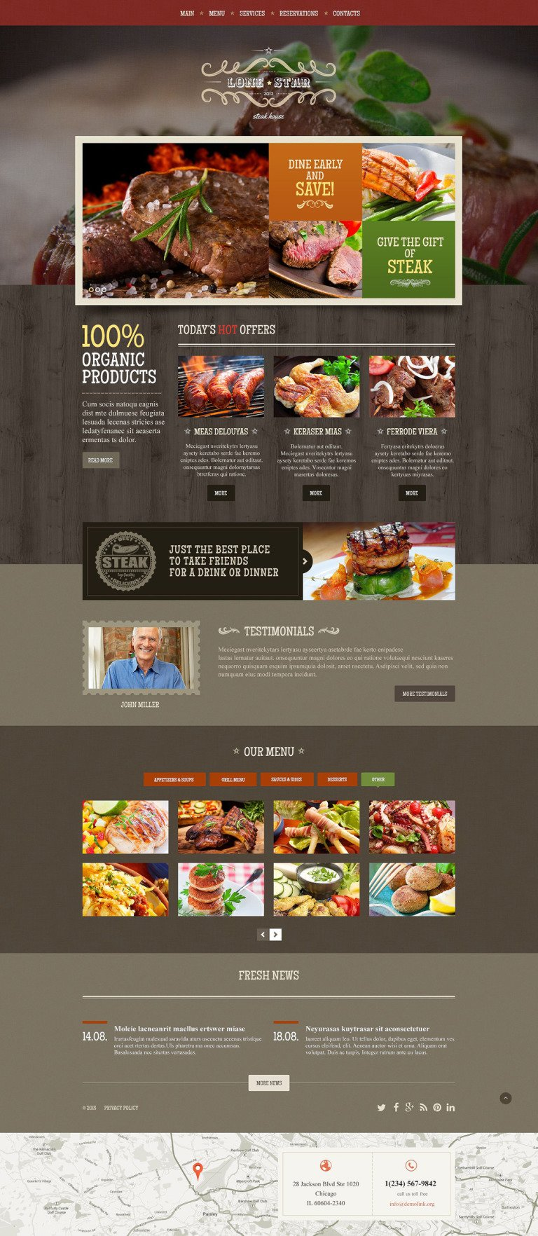 Lone Star Website Template New Screenshots BIG