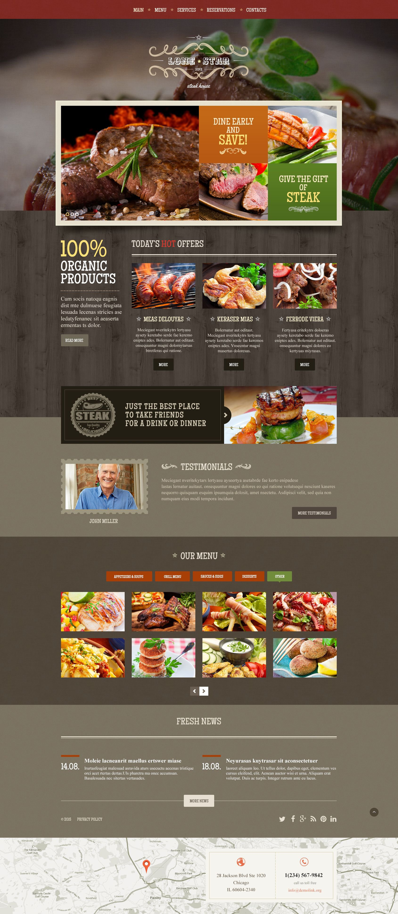 Lone Star Website Template