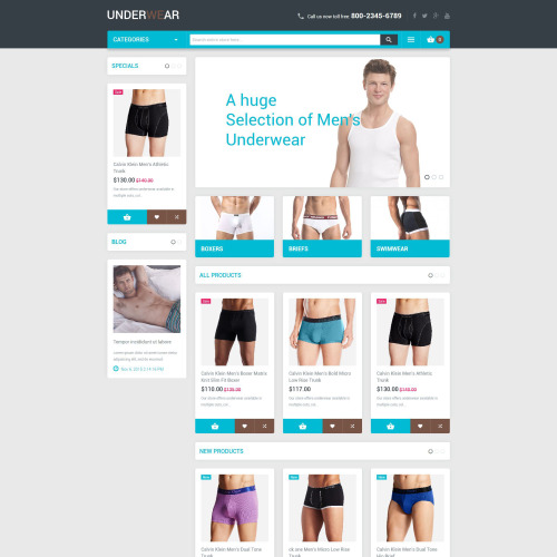 Underwear - Magento Template based on Bootstrap