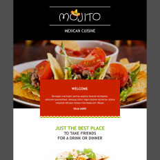 Cafe and Restaurant Responsive Newsletter Template #55080
