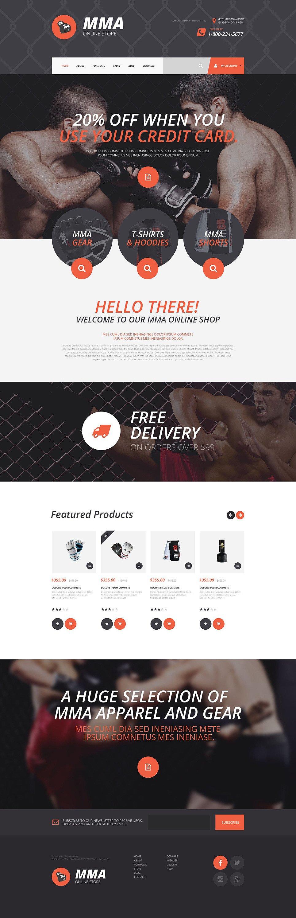 MMA Online Store WooCommerce Theme New Screenshots BIG