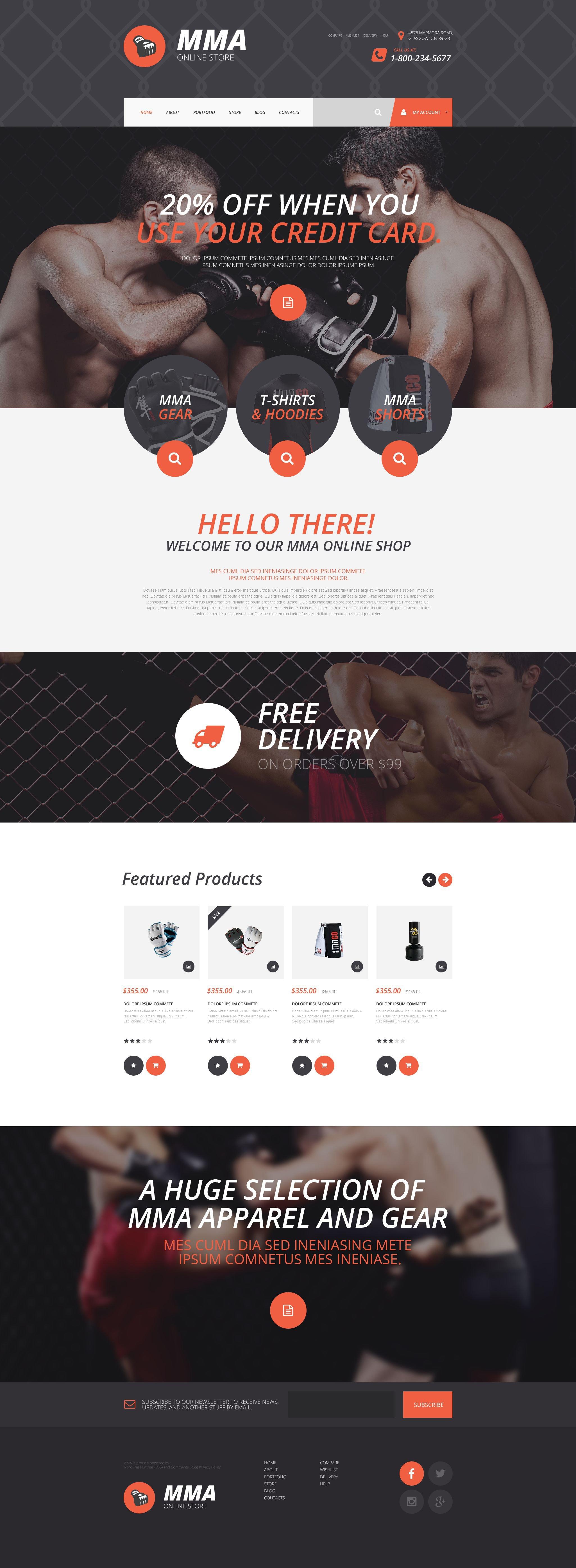 MMA Online Store WooCommerce Theme - screenshot