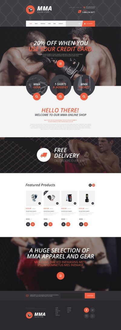 MMA Online Store WooCommerce Theme