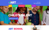 """Modello Siti Web Responsive #54875 """"Scuola d'Arte per bambini"""" New Screenshots BIG"""