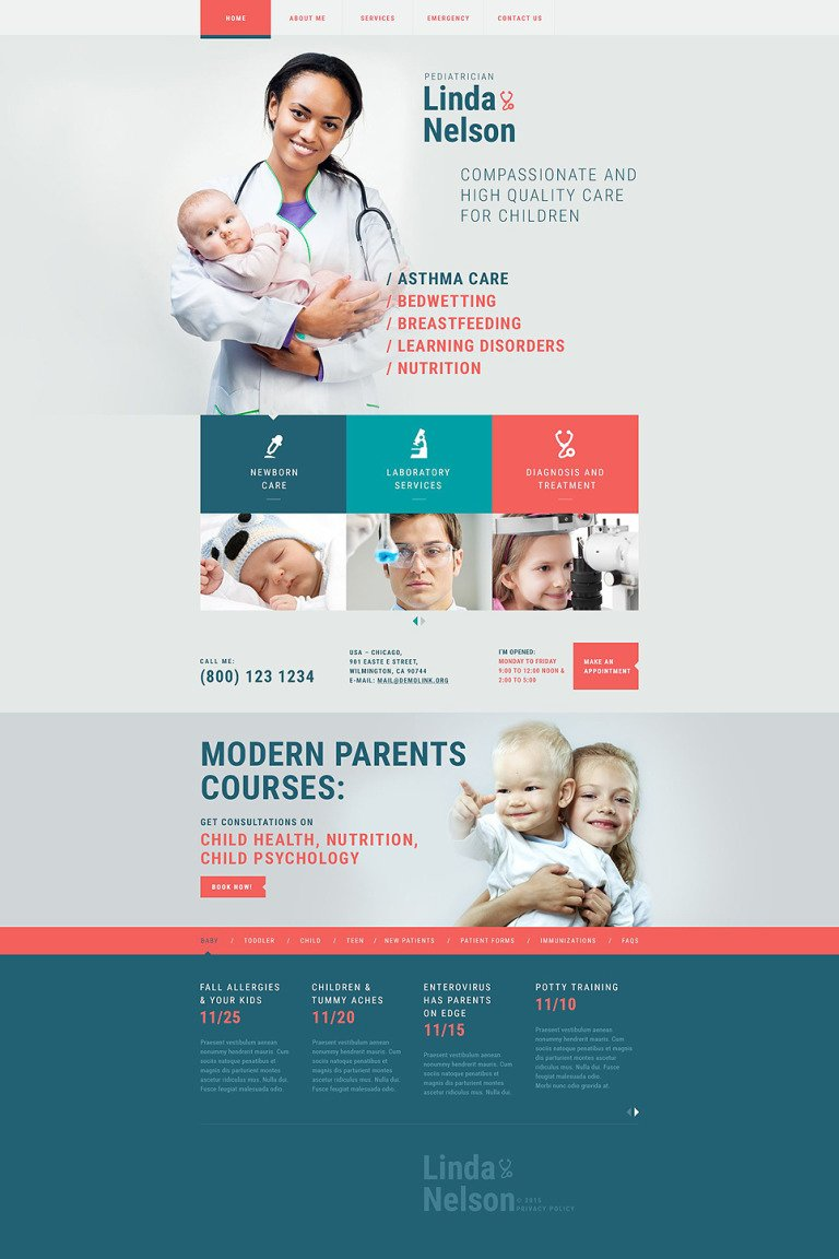 Pediatrician Responsive Website Template New Screenshots BIG