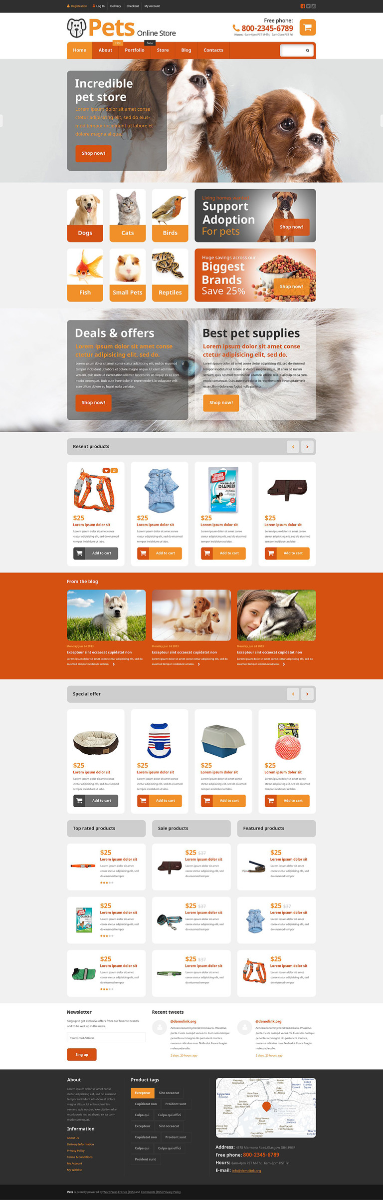 Pets Online Store WooCommerce Theme New Screenshots BIG