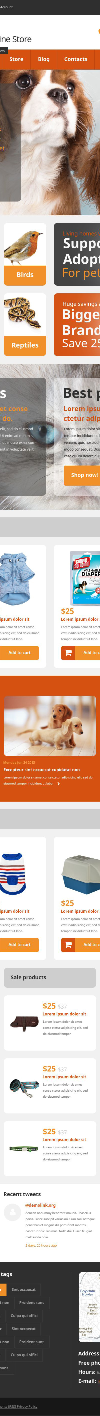 Pets Online Store WooCommerce Theme