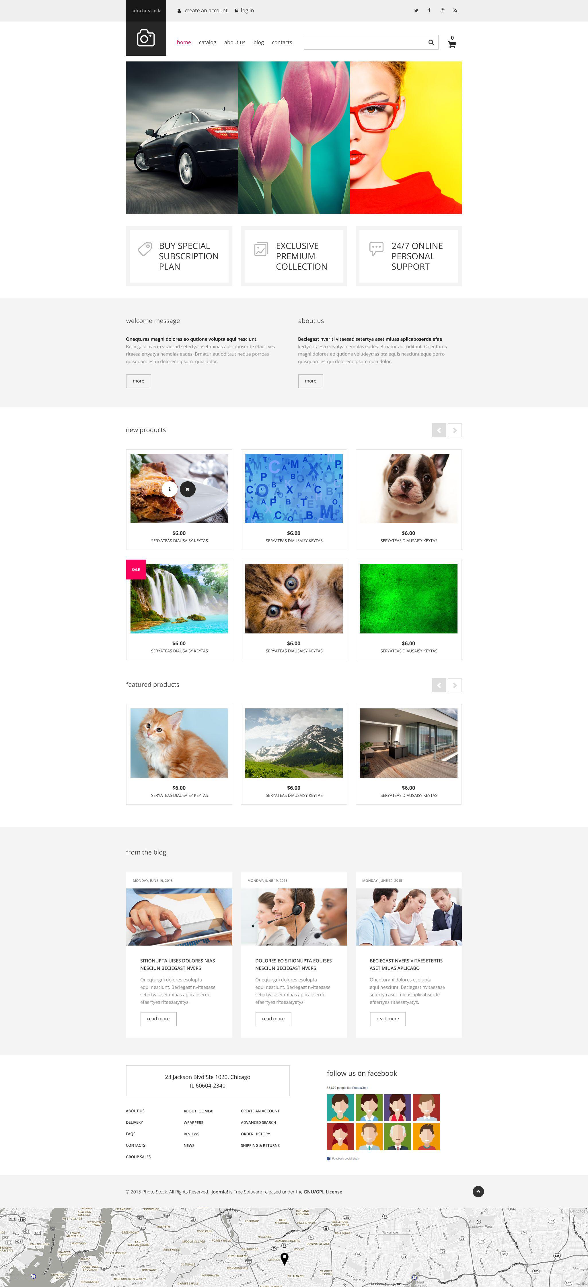 Photo Club VirtueMart sablon 54838 - képernyőkép