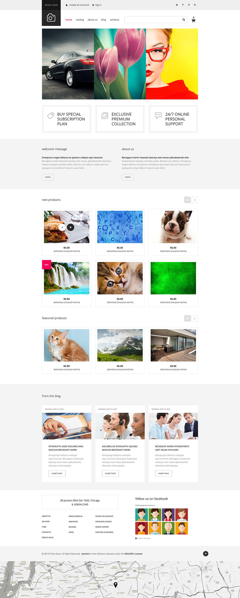 Photo Club VirtueMart Template New Screenshots BIG