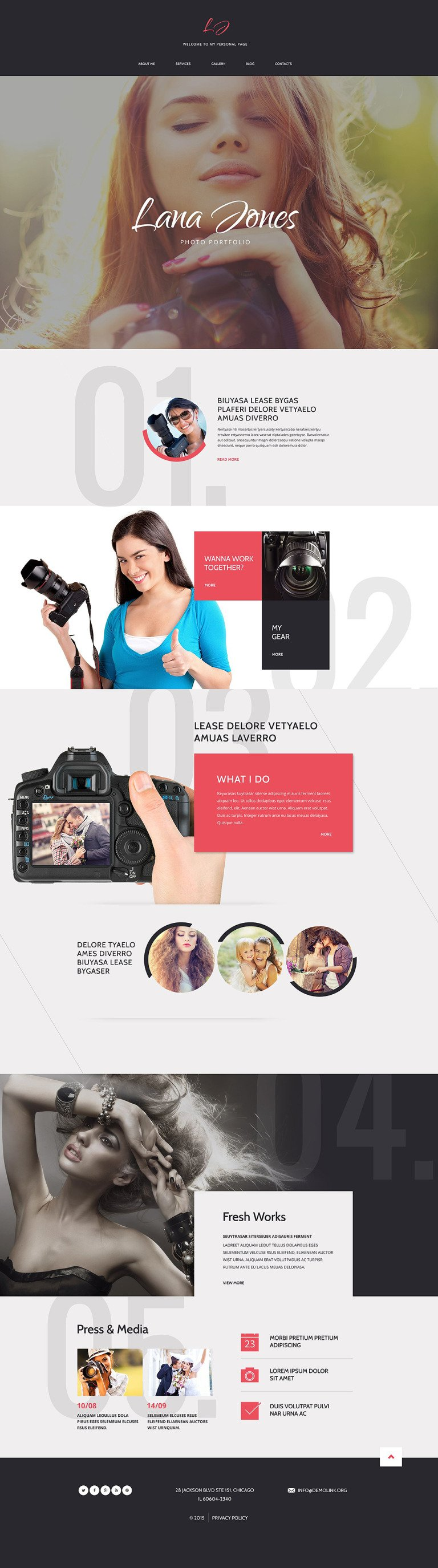 Photographer Portfolio Responsive Drupal Template New Screenshots BIG