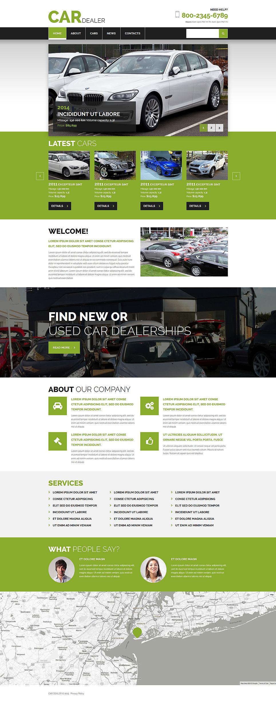 Plantilla Joomla #54872 para Sitio de Alquiler de coches