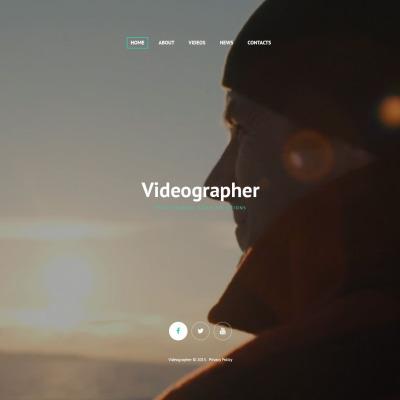 Responsive Plantilla Web #54878 para Sitio de  para Sitio de Camarógrafos