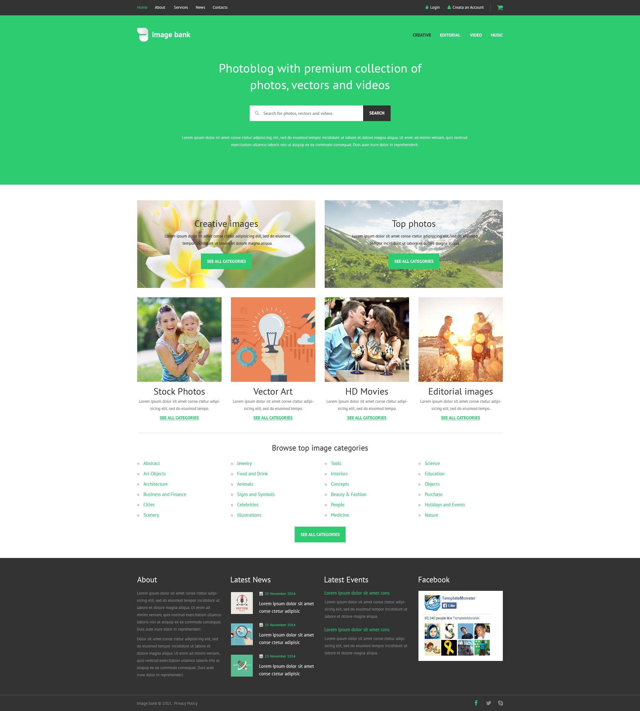 Plantilla Web #54818 para Sitio de Stock Foto