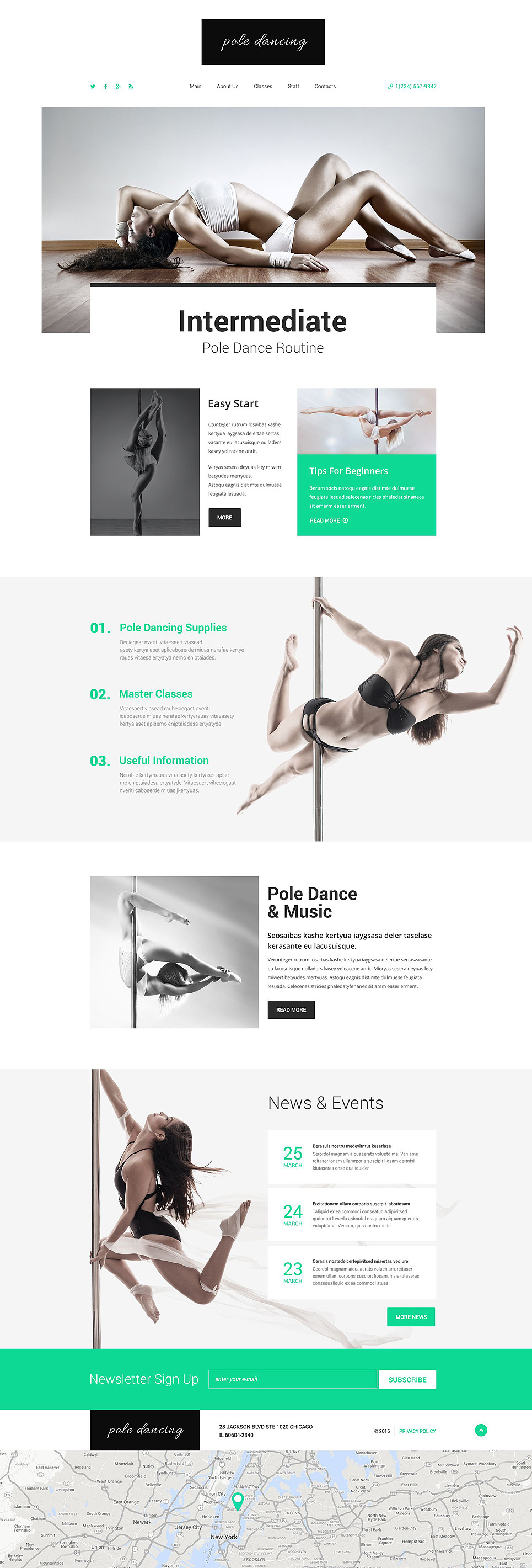 Pole Dancing Website Template New Screenshots BIG