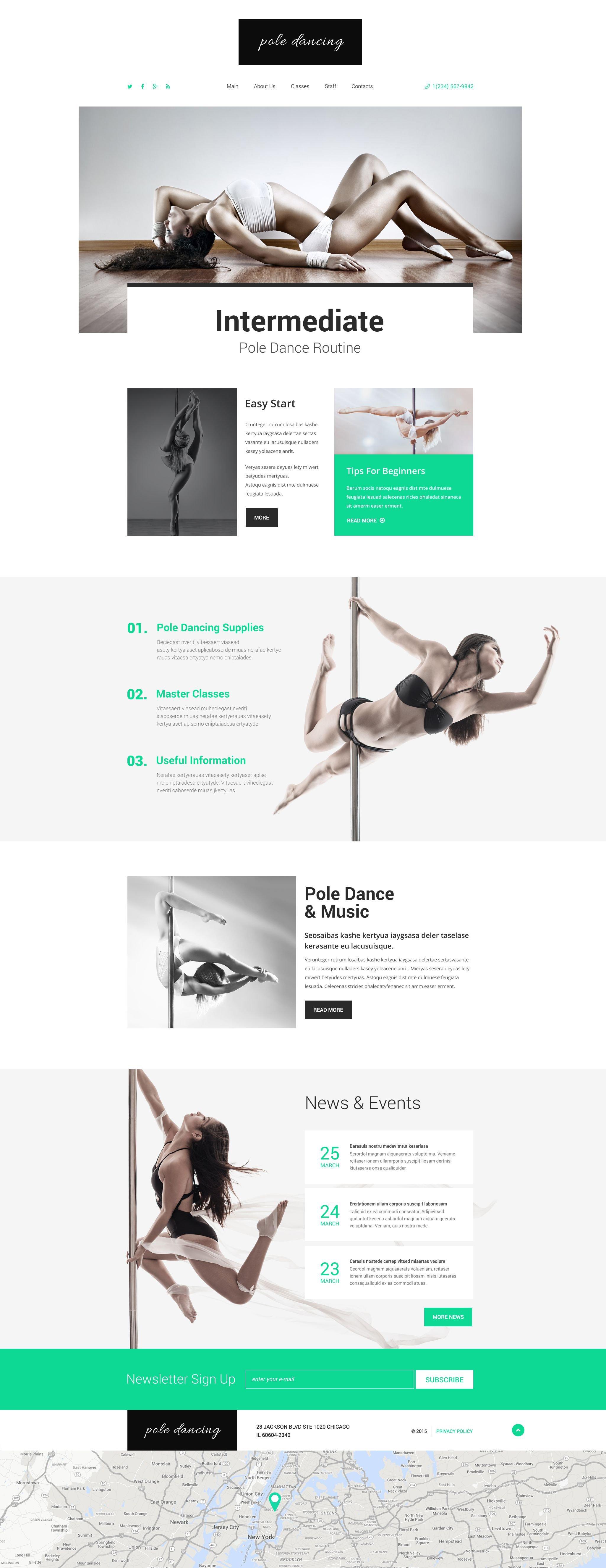 Pole Dancing Website Template