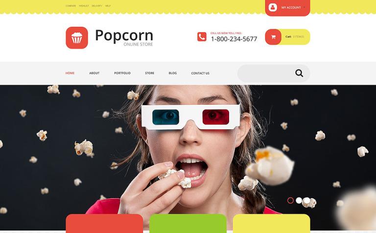 Popcorn Store WooCommerce Theme