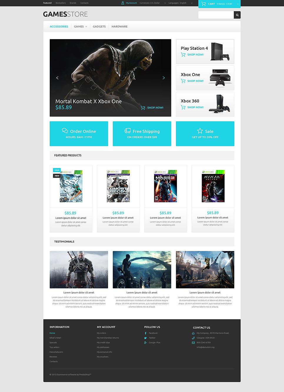 Pro Gamer OsCommerce Template New Screenshots BIG