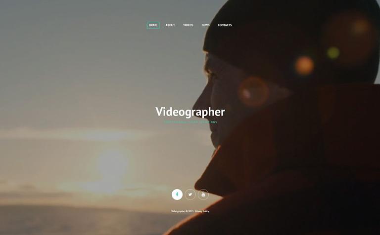 Videographer Web Template