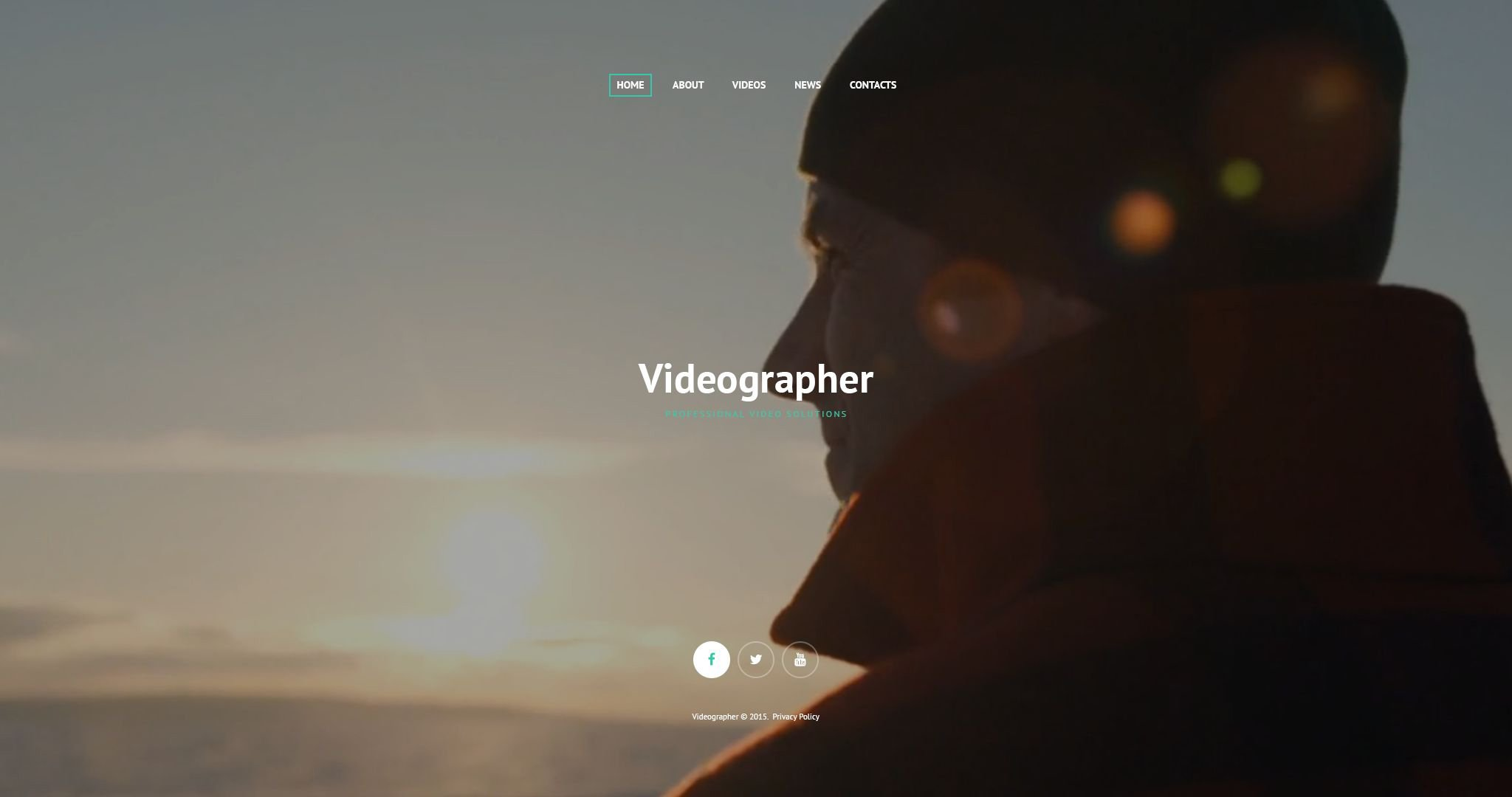 Professional Video Solutions Website Template Videographer Web
