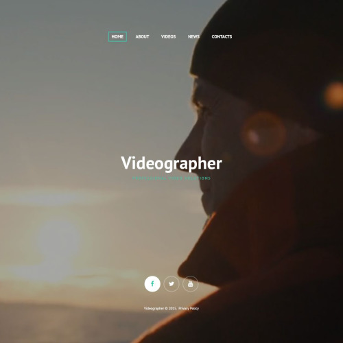 Videographer - Responsive Website Template