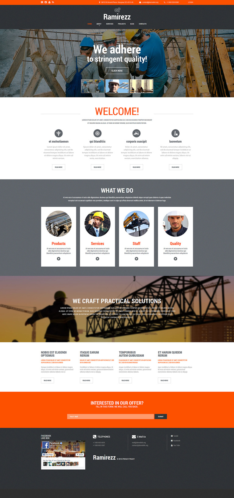 Ramirezz Joomla Template New Screenshots BIG