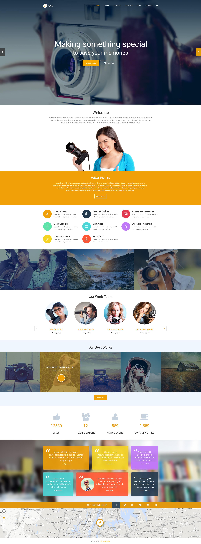 Responsives WordPress Theme für Fotografen Portfolio #54800 - Screenshot